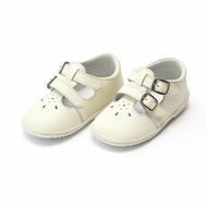 L'Amour Angel Baby / Toddler Girls Hattie Double Buckle Mary Janes Shoes - Ecru