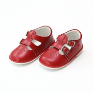 L'Amour Angel Baby / Toddler Girls Hattie Double Buckle Mary Janes Shoes - Red