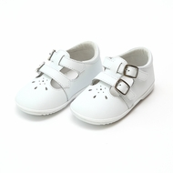 L'Amour Angel Baby / Toddler Girls Hattie Double Buckle Mary Janes Shoes - White