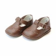 L'Amour Angel Baby / Toddler Girls Leather T-Straps Shoes - Brown