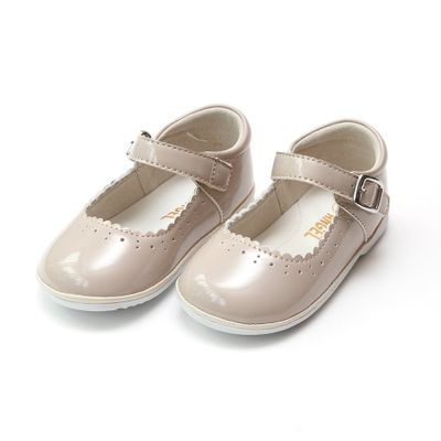 L'Amour Angel Baby / Toddler Girls Scarlett Scallop Mary Janes Shoes - Patent Almond