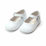 L'Amour Angel Baby / Toddler Girls Scarlett Scallop Mary Janes Shoes - White