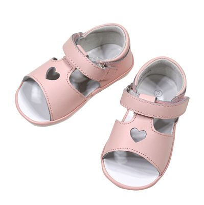 L'Amour Angel Baby / Toddler Girls Shoes - Betsy Open Heart Sandals - Pink
