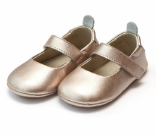 L'Amour Angel Baby / Toddler Girls Soft Leather Mary Janes Shoes - Copper