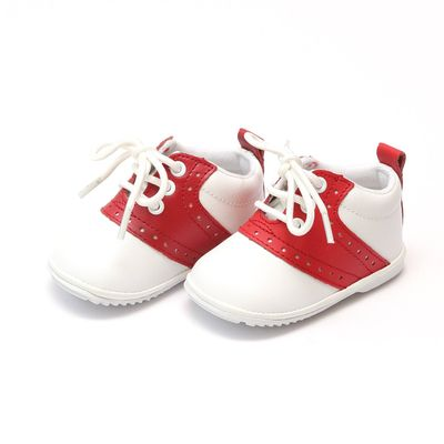 L'Amour Angel Baby / Toddler Saddle Oxfords Shoes - White with Red