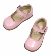 L'Amour Angel Girls Chloe Scallop Mary Janes Shoes - Pink