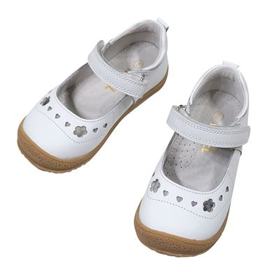 L'Amour Angel Girls Shoes - Velcro Strap Mary Janes - White