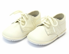 L'Amour Angel James Baby / Toddler Shoes - Lace Up Oxfords - Ecru Off White