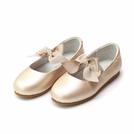 L'Amour Girls Pauline Bow Flats Shoes - Champagne