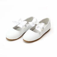 L'Amour Girls Pauline Bow Flats Shoes - White