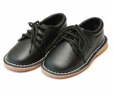 L'Amour Little Boys Leather Dress Oxford Shoes - Black