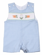 Le Za Me Baby / Toddler Boys Blue Smocked Easter Bunny Jon Jon