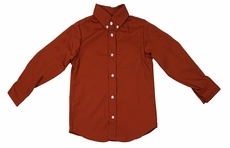 Le Za Me Boys Button Down Dress Shirt - Burnt Orange Rust