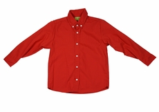 Le Za Me Boys Button Down Dress Shirt - Red