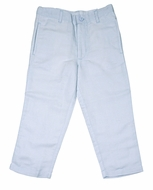 Me Me Boys Linen Blend Pants - Blue