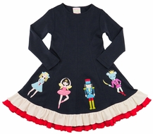 Lemon Loves Lime Girls Captain Nutcracker Ballet Christmas Dress