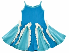 Lemon Loves Lime Girls Easy Twirl Dress - Blue