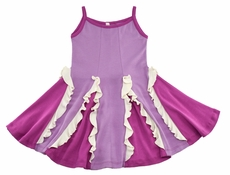 Lemon Loves Lime Girls Easy Twirl Dress - Purple Radiant Orchid