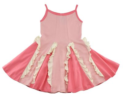 Lemon Loves Lime Girls Easy Twirl Dress - Rose Shadow Pink