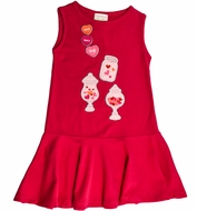 Lemon Loves Lime Girls Hot Pink XOXO Valentine Candy Jar Dress