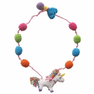 Lemon Loves Lime Girls Necklace - Rainbow Unicorn