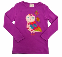Lemon Loves Lime Girls Purple Owl Luna Tee Shirt