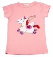 Lemon Loves Lime Girls Rose Pink Unicorn Power Tee Shirt