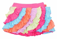 Lemon Loves Lime Girls Ruffle Skort - Bright Multi