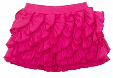 Lemon Loves Lime Girls Ruffle Skort - Fuchsia