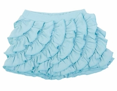 Lemon Loves Lime Girls Ruffle Skort - Turquoise Blue