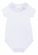 Lemon Loves Lime Layette Baby Girls Daisy Onesie - White