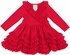 Lemon Loves Lime Layette Baby Girls Grace Ruffle Christmas Dress - True Red