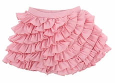 Lemon Loves Lime Layette Baby Girls Joy Ruffled Bloomers Shorts - Rose Shadow Pink