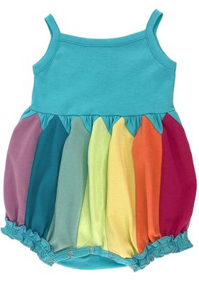 Lemon Loves Lime Layette Baby Girls Rainbow Colors Bubble