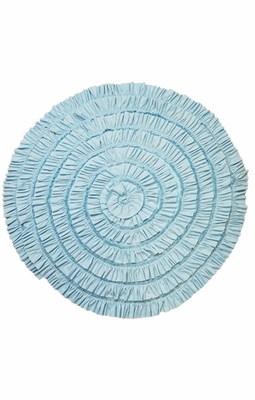 Lemon Loves Lime Layette Baby Girls Rose Wrap Circular Blanket - Cinderella Blue