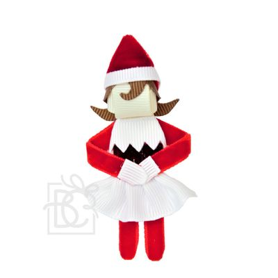 Beyond Creations Girls Pinch Clip Add-On to Bow - Christmas Elf Girl