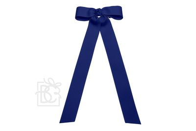 Girls Grosgrain Bow with Streamer Tails - Navy Blue