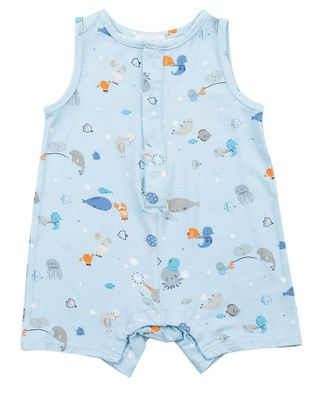 Angel Dear Baby Boys Blue Happy Ocean Sleeveless Romper
