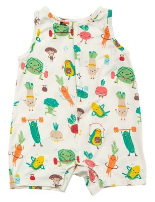 Angel Dear Baby Boys Green / Orange Veg-ersize Veggie Sleeveless Romper