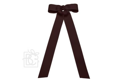 Girls Grosgrain Bow with Streamer Tails - Burgundy