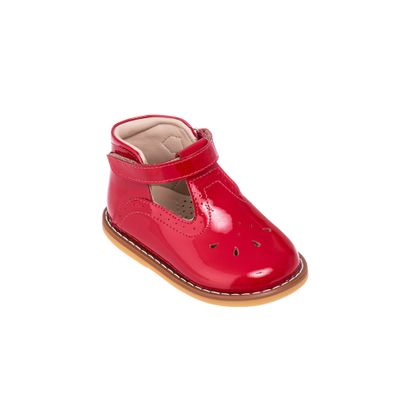 Elephantito Girls Shoes - Toddler T-Bar - Red Patent