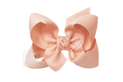 Girls Grosgrain Double Knot Bow on Clip - Light Coral
