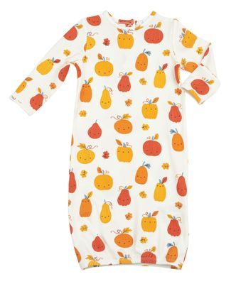 Angel Dear Baby Gown - Orange Pumpkin Patch