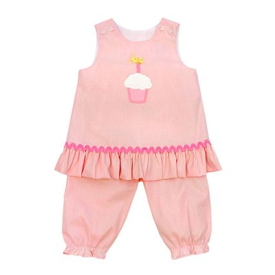 The Bailey Boys Baby Girls Pink Birthday Cupcake Angel Set