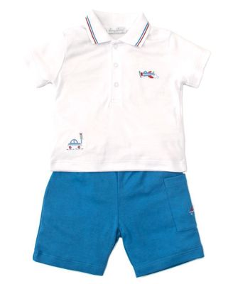 Kissy Kissy Baby Boys Blue On the Go Bermuda Shorts Set