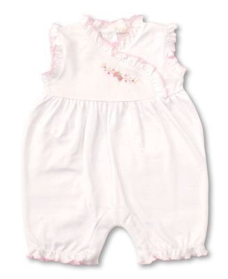 Kissy Kissy Baby Girls White / Pink Premier Strawberry Patch Bubble Playsuit