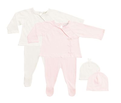 Angel Dear Baby Girls Take Me Home Footie Set with Hat - Ivory