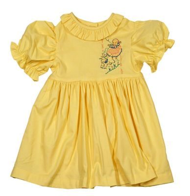 LaJenn's Mary Mary Toddler Girls Yellow Mary Had a Little Lamb Dress