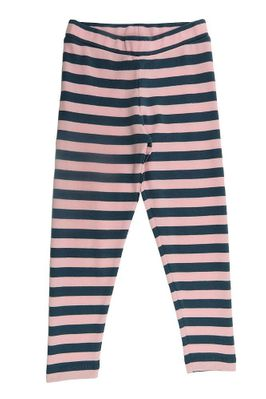 Lemon Loves Lime Girls Striped Leggings - Orion Blue & Rose Pink