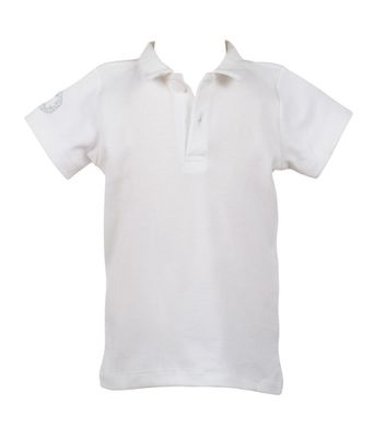 The Proper Peony Parkside Boys Proper Polo Shirt - White